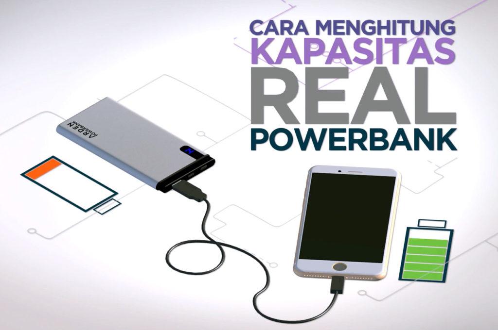 cara menghitung kapasitas real power bank